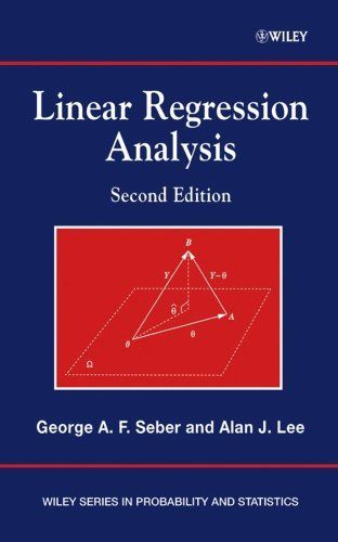 Linear Regression Analysis 2 ED by George A F Seber 0471415405