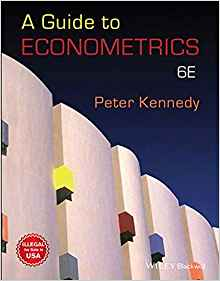 A Guide to Econometrics 6 ED by Peter Kennedy 812657481X