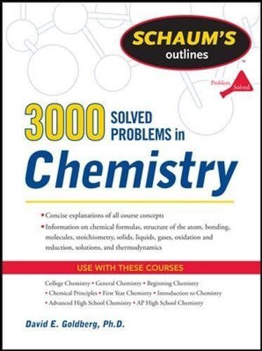3000 Solved Problems in Chemistry 1 ED by David E Goldberg 0071755004