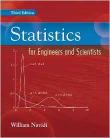 Statistics for Engineers and Scientists 3e 0073376337 Navidi
