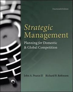 Strategic Management 14e 0077862511 Robinson ET