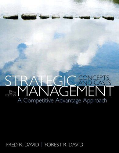 Strategic Management 15e 0133768767 David ET