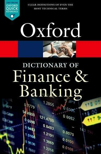 A Dictionary of Finance and Banking 6 ED by Jonathan Law 0198789742 US ED