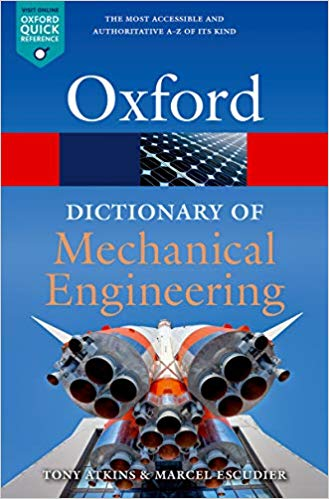A Dictionary of Mechanical Engineering 2 ED by Marcel Escudier 0198832109 US ED FBS