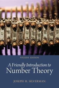 A Friendly Introduction to Number Theory 4e 0321816196 Silverman