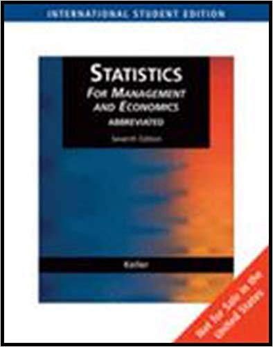 Statistics for Managerial and Economics 7 ED by Gerald Keller 0324376286