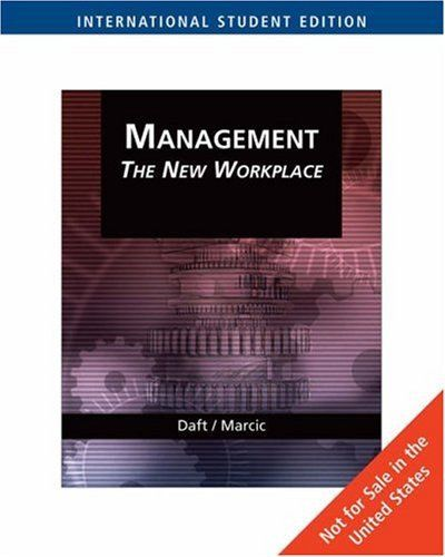 Management 1 ED by Richard L Daft 0324422040
