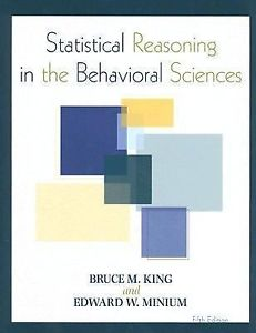 Statistical Reasoning in the Behavioral Sciences 5e 0470134879