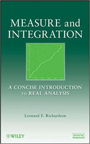 Measure and Integration 1 ED by Leonard F Richardson 047025954X
