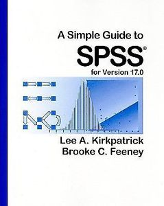 A Simple Guide to SPSS for Version 17 point 10e 0 0840031882 ET