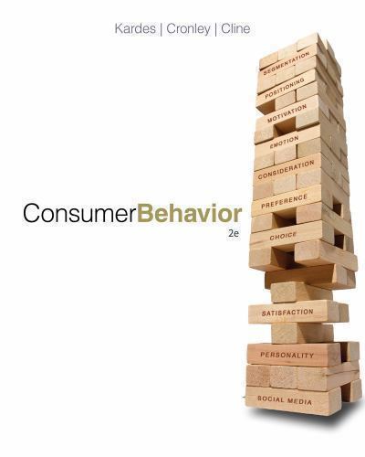 Consumer Behavior 2 ED by Frank Kardes 1133587674