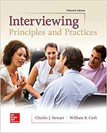 Interviewing Principles and Practices 15 ED by William B Cash 1259870537