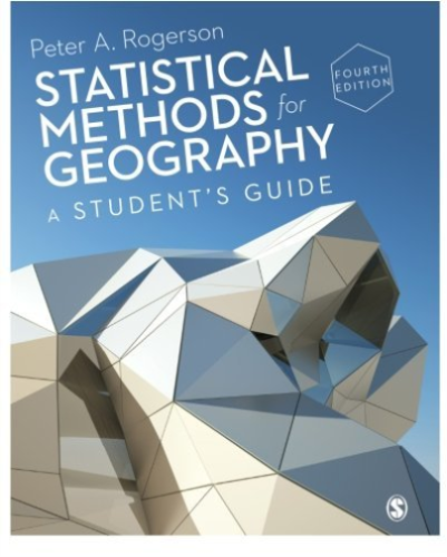 Statistical Methods for Geography 4 ED by Peter A Rogerson 1446295737