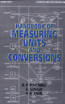 Handbook of Measuring Units and Conversions by Kachru 8126133597