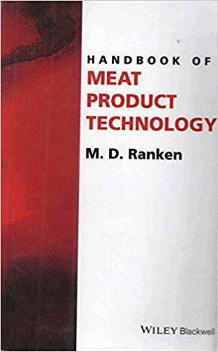 Handbook of Meat Product Technology 1 ED by M D Ranken 8126551453