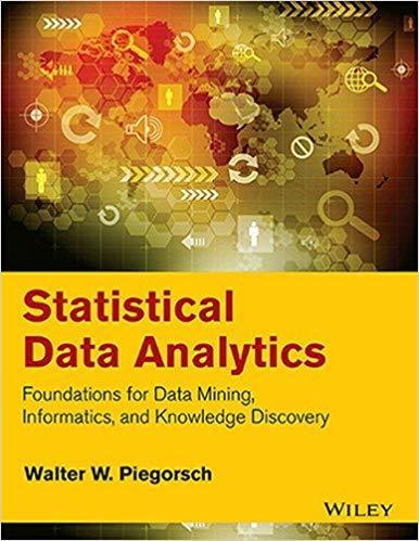 Statistical Data Analytics 1 ED by Walter W Piegorsch 8126567325