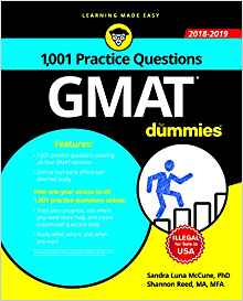 1001 GMAT Practice Questions for Dummies by Sandra Luna Mccune 8126573473