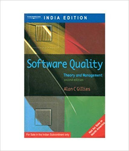 Software Quality 2 ED by Alan C Gillies 8131500411