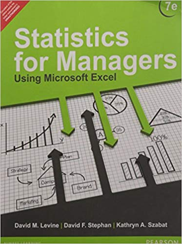 Statistics for Managers using Microsoft Excel 7 ED by David F Stephan 9332556873