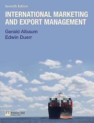 International Marketing and Export Management by Edwin Duerr 7 ED by Gerald Albaum 9780273743880