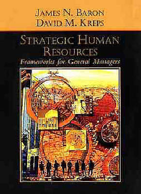Strategic Human Resources 1 ED by James N Baron 9780471072539