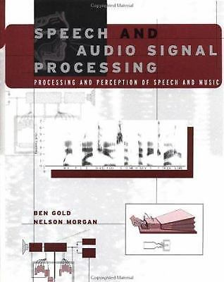 Speech and Audio Signal Processing 1 ED by Nelson Morgan 9780471351542
