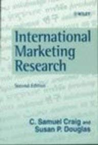 International Marketing Research 2 ED by C Samuel Craig 9780471983224