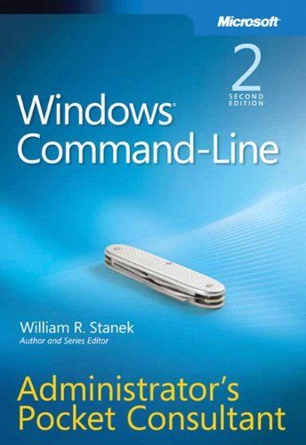 Windows Command Line Administrators Pocket Consultant 2 ED 9780735622623
