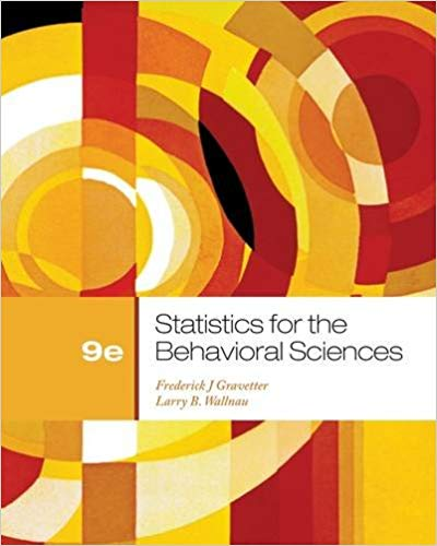 Statistics for the Behavioral Sciences 9 ED by Larry B Wallnau 9781111830991