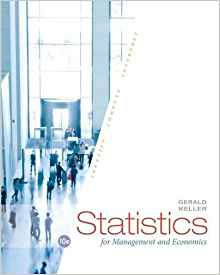 Statistics for Management and Economics 10 ED by Gerald Keller 9781285425450