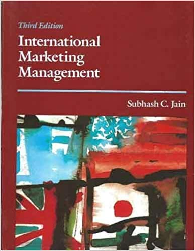 International Marketing Management 3 ED by Subhash C Jain 9788123912752