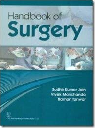 Handbook of Surgery 1 ED by Sudhir Kumar Jain 9788123924229