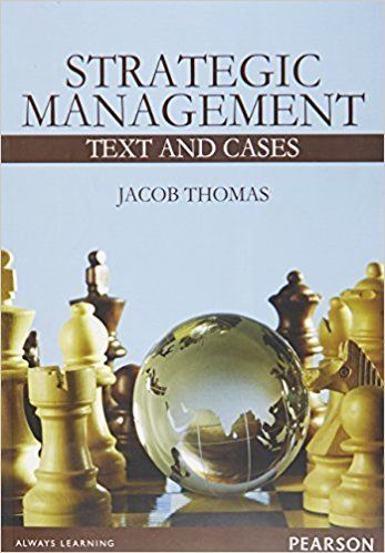 Strategic Management 1 ED by Jacob Thomas 9789332535404