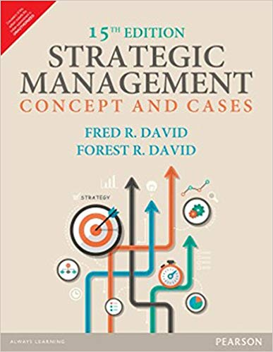 Strategic Management 15 ED by Fred R David 9789332548930