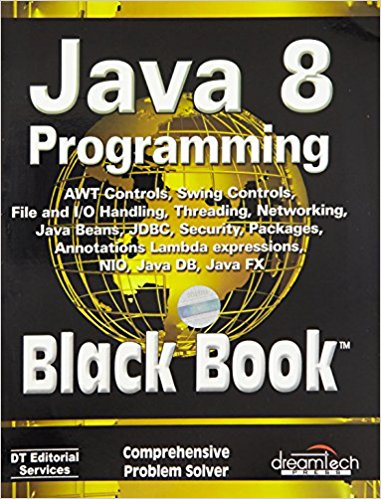 Java 8 Programming Black Book 8 ED by DT Editorial Services 9789351197584