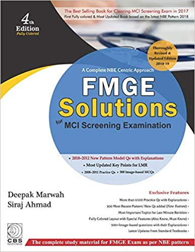 A Complete NBE Centric Approach FMGE Solutions for MCI Screening Examination 4 ED 9789388108904